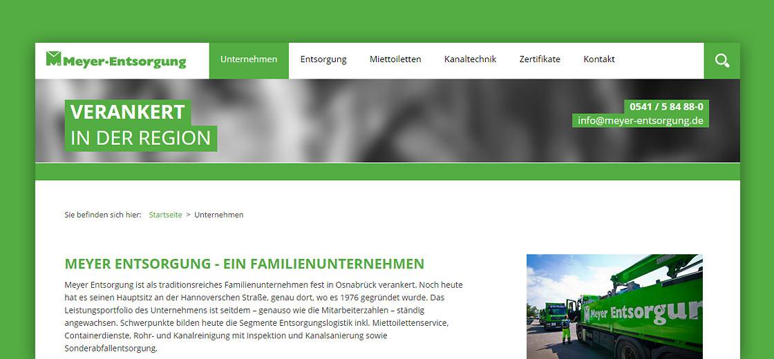 Webseite Meyer Entsorgung