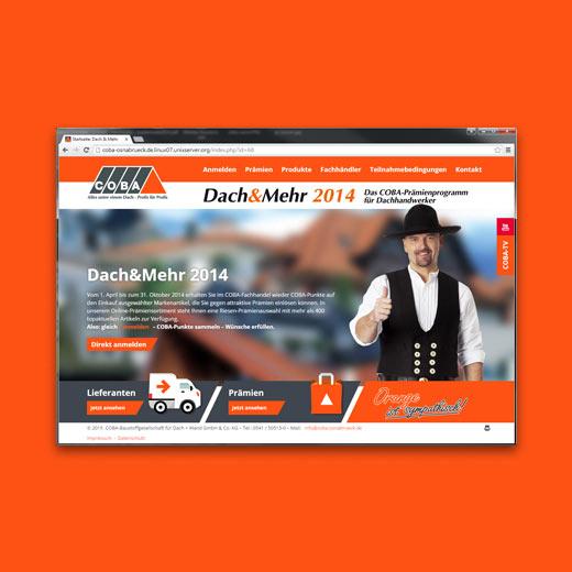 Webseite Coba