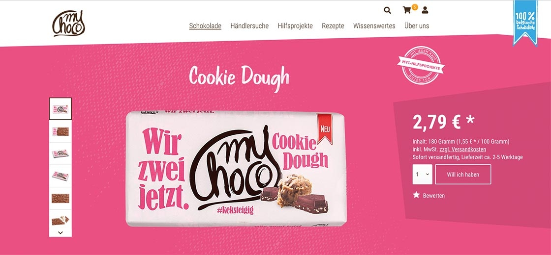 Referenzbild Shop myChoco